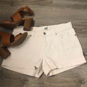 Joe fresh white denim shorts size 2